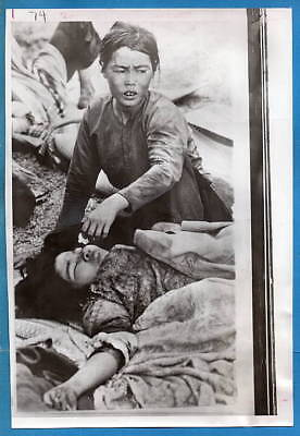 1970 Survivors of Viet Cong Liberation Prasaut Cambodia Press Photo