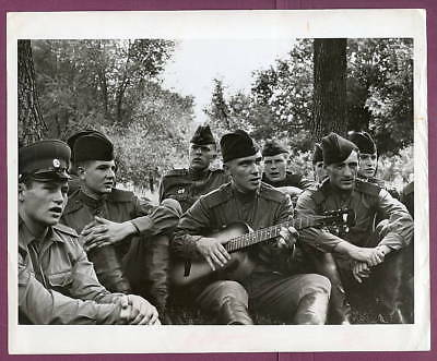 1969 USSR Soviet Recruits Relaxing Original Press Photo