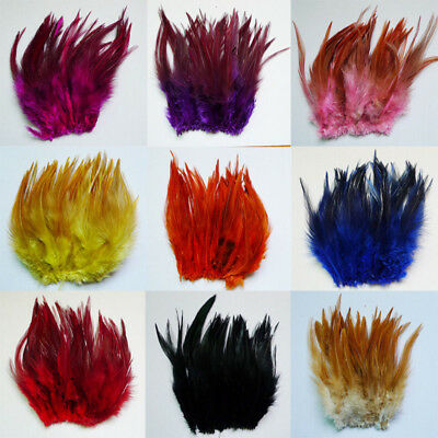 50 root sell 10-15cm 4-6 inch rooster neck feather DIY Christmas day decorate