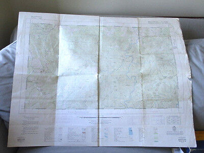 VINTAGE 1964 JENOLAN FIRST EDITION  MAP DEPARTMENT OF LANDS  85cm x 66cm