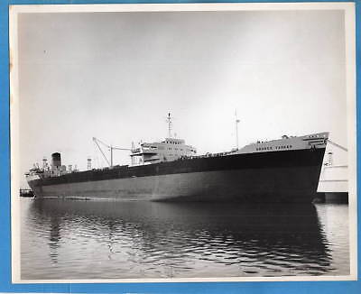 1940-50s Tanker SS Andros Tanker 8x10 Original Photo