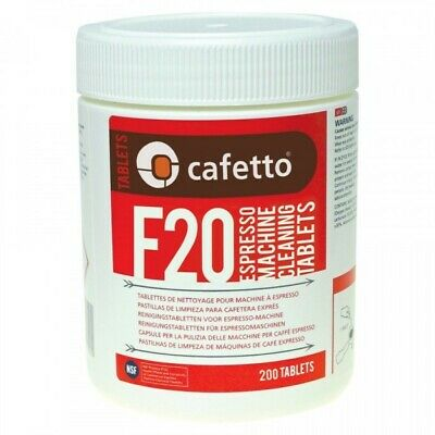CAFETTO F20 200 Espresso Coffee Machine Cleaning Tablets