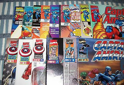 Lot of 15 Captain America comics from Vol. 2&3  #1 - 27 from 1996 to 2000