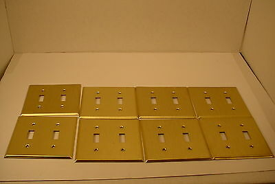 8 Vintage Goldtone Light Switch Plate Outlet  Covers