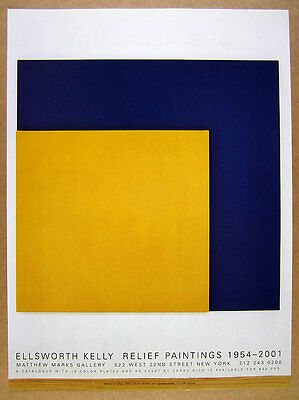 2001 Ellsworth Kelly Yellow on Blue painting NYC gallery vintage print Ad