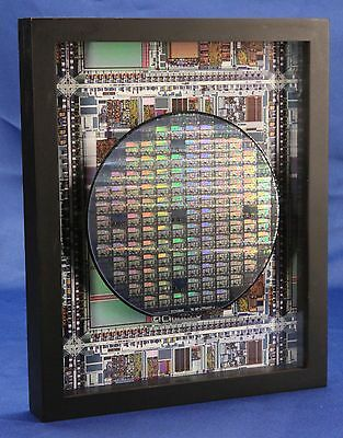 Silicon Wafer - The Microprocessor Chip (TI,TMS370,MPU,CPU,8x10