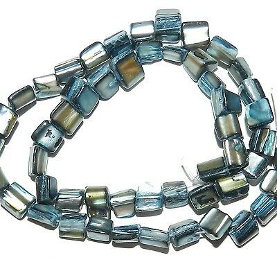 """MP1261L Blue Small 9mm Tri-Tip Nugget Mother of Pearl Gemstone Shell Beads 16"""""""