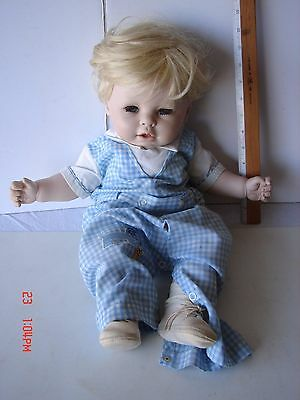 Ooak Artist Crafted Porcelain Head Arms Legs Cloth Stuffed Doll 20 Inch Handmade