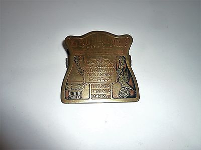 ANTIQUE LETTER CLIP HOLDER BY THE EAGLE & GLOBE STEEL Co LIMITED SHEFFIELD TOOLS
