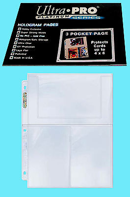 10 ULTRA PRO PLATINUM 3-POCKET 4x6 Pages Sheets Photo Currency Coupon Post Card