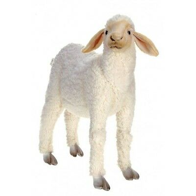 New NWT Hansa Life Like Handmade Stuffed Animal Standing Life-Sized Lamb White
