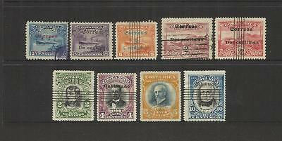 Costa Rica ~ 1911 Surcharges Overprints (Used Part Set)