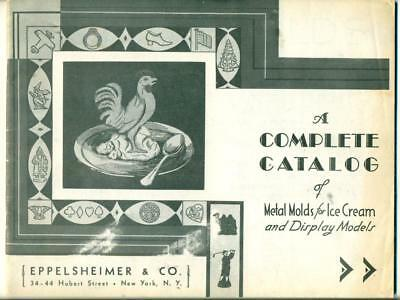 VINTAGE ca. 1940 ICE CREAM MOLD COMPLETE CATALOG by EPPELSHEIMER New York City