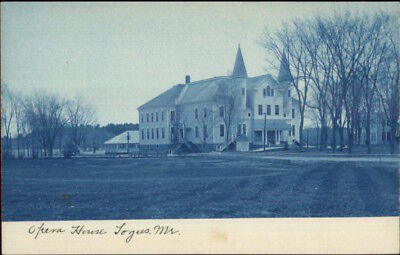 Togus ME Veterans Soldiers Home c1905 Cyanotype Real Photo Postcard #2