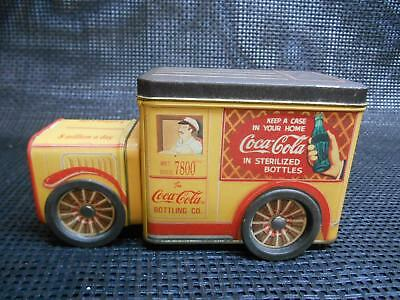 Old COCA-COLA BOTTLING Co. Sterilized Bottles Metal TIN DELIVERY TRUCK Container