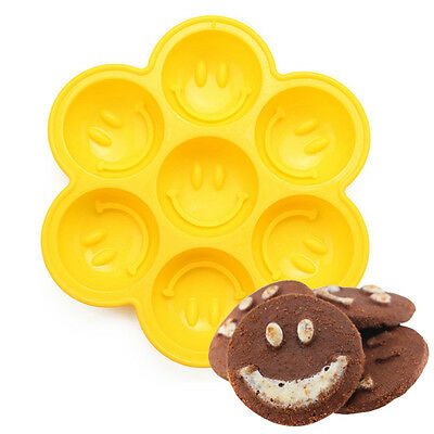 Kitchen Tool Silicone Smiley Cake Mold Pan Soap Chocolate Mold Bakeware