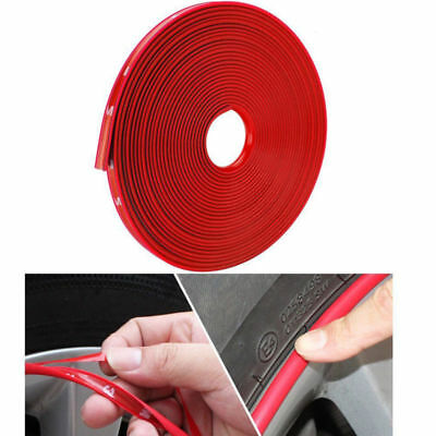 Car Truck Ring Tire Guard Sticker Rubber Strip Red Wheel Hub Rim Edge Protector