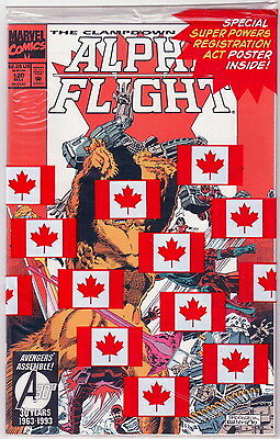 Alpha Flight 120 The Clampdown 3 of 3 -- Factory Bagged with poster