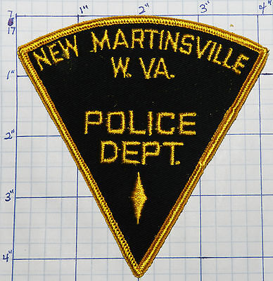West Virginia, New Martinsville Police Dept Triangle Patch