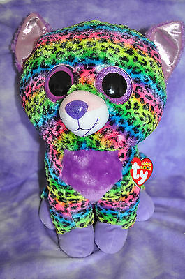 "TY  2015 Justice Exclusive Trixie Leopard Beanie Boo Jumbo 17"" ~NWNMT  VHTF"