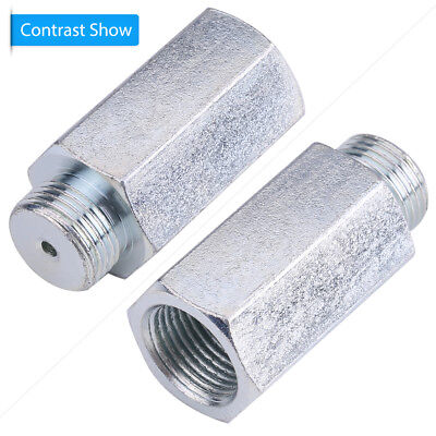 1Pc Silver Oxygen Sensor Lambda O2 M18 x1.5 Extension Extender Spacer Exhaust LY