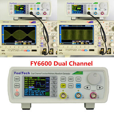 FY6600 Function Signal Source Arbitrary Waveform 2-CH DDS Generator Kit 15-60MHz
