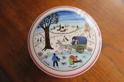 Villeroy & Boch Naif LAPLAU Lidded Sweet Dish Trinket Excellent Condition AS NEW