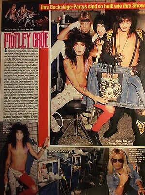 1 german clipping MÖTLEY CRÜE SHIRTLESS HARD ROCK METAL BOY BAND BOYS GROUP