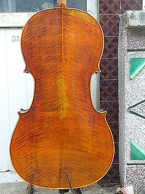 Cello 4/4 Size full Hand made antique old style handcarved bright sound