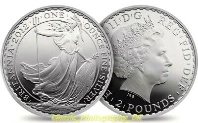 One Ounce Fine Silver .999 Pure 1Oz Silver Britannia 2012 Coin ( UNCIRCULATED! )
