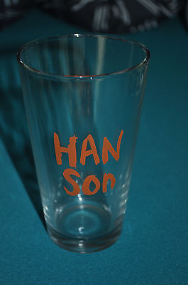 RARE NEW Hanson Name Logo Pint Glass!