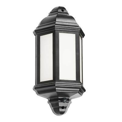 Knightsbridge Outdoor LED Half Wall Lantern with PIR (Black) Security Lighting