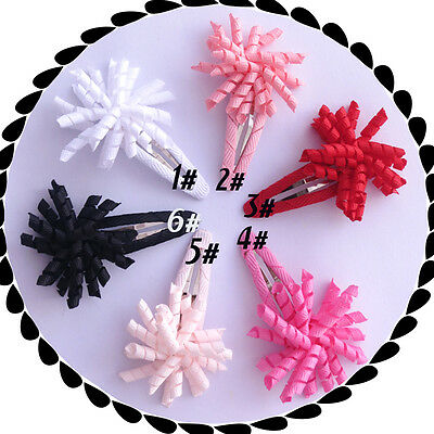 "30 BLESSING Good Girl 1.5"" Corker Hair Bow Use 1/8""  Ribbon Snap Clip 48 No."