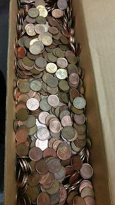 10 Lbs pounds of Canadian Pennies coins Lot Free Shipping