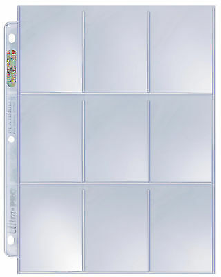 10 loose - Ultra Pro Platinum 9 Pocket Pages Card Storage Sheets Holders