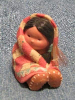 Friends of the Feather Wrapped in Love Native Figurine Enesco 1994 Hahn MINT