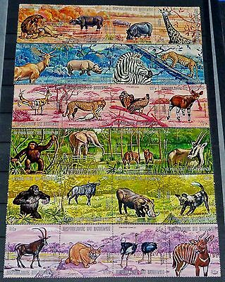 Burundi Animals 1971 Scott #C146-C151 Complete Airmail Set of (24) CTO