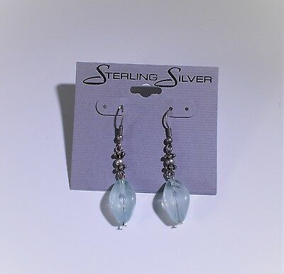 """""""Sterling Silver"""" Earring Card Display  - 100pcs"""