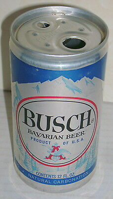 Busch Beer Can- No White Print On The Mountains! Button Top - Misprint?
