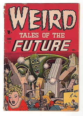Weird Tales of the Future # 2, G/VG ,  Awesome Wolverton Cover, 1952 Sci Fi