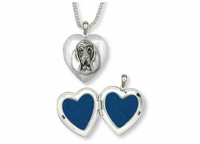 Bloodhound Photo Locket Jewelry Sterling Silver Handmade Dog Photo Locket BHD4-T