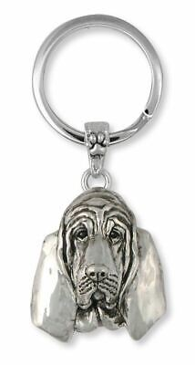 Bloodhound Key Ring Jewelry Sterling Silver Handmade Dog Key Ring BHD6-2KRE