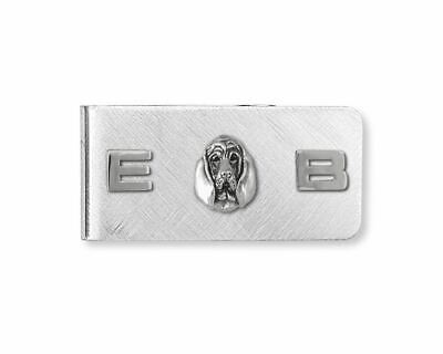 Bloodhound Money Clip Jewelry Sterling Silver Handmade Dog Money Clip BHD4-MC