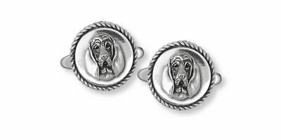 Bloodhound Cufflinks Jewelry Sterling Silver Handmade Dog Cufflinks BHD4-CL