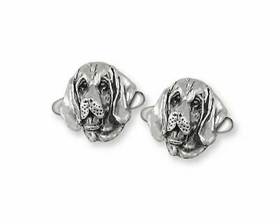Bloodhound Cufflinks Jewelry Sterling Silver Handmade Dog Cufflinks BHD2-CL
