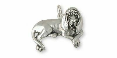 Bloodhound Charm Jewelry Sterling Silver Handmade Dog Charm BHD5-C