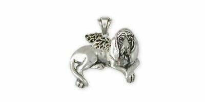 Bloodhound Angel Pendant Jewelry Sterling Silver Handmade Dog Pendant BHD5-AP