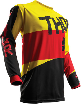 Thor S7S Pulse Taper Jersey / Yellow/Red - All Sizes