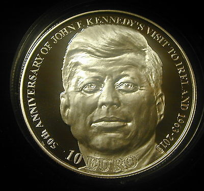 J.f. Kennedy  Visit To Ireland.50Th Anniversary 1963-2013. 10 Euro  Silver Proof
