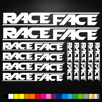 Race Face 11 Stickers Autocollants Adhésifs - Vtt Velo Mountain Bike Dh Freeride